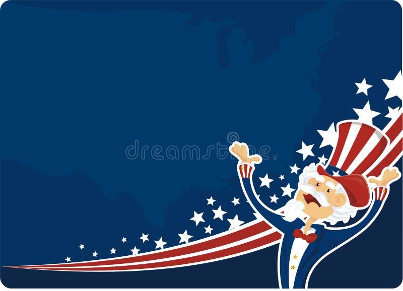4$ος εορτασμός Ιούλιος διανυσματική απεικόνιση