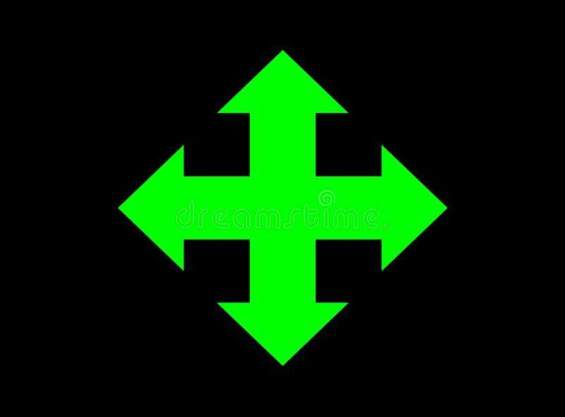 4 πράσινοι τρόποι σημαδιών πυράκτωσης Στοκ φωτογραφία με δικαίωμα ελεύθερης χρήσης