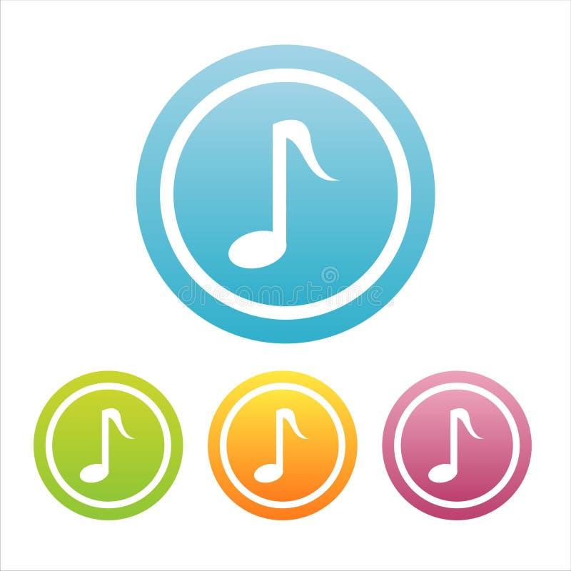 4 σημάδια συνόλου μουσικ απεικόνιση αποθεμάτων