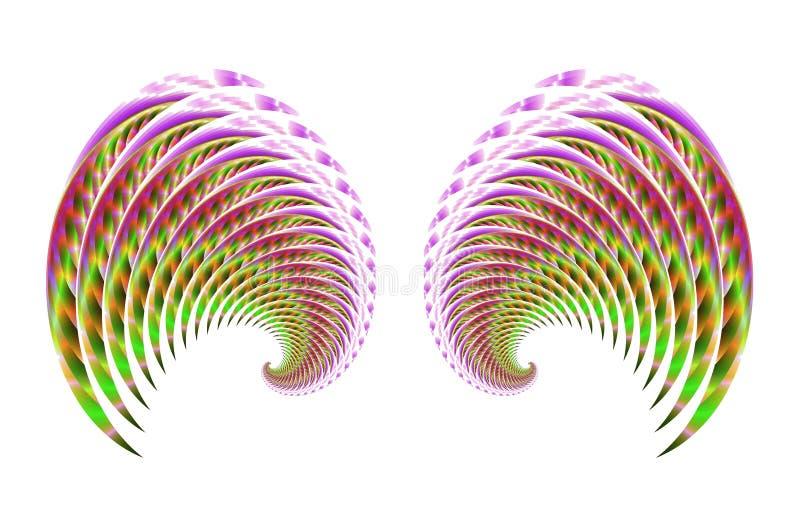 4 φτερά νεράιδων πουλιών αγ&g διανυσματική απεικόνιση