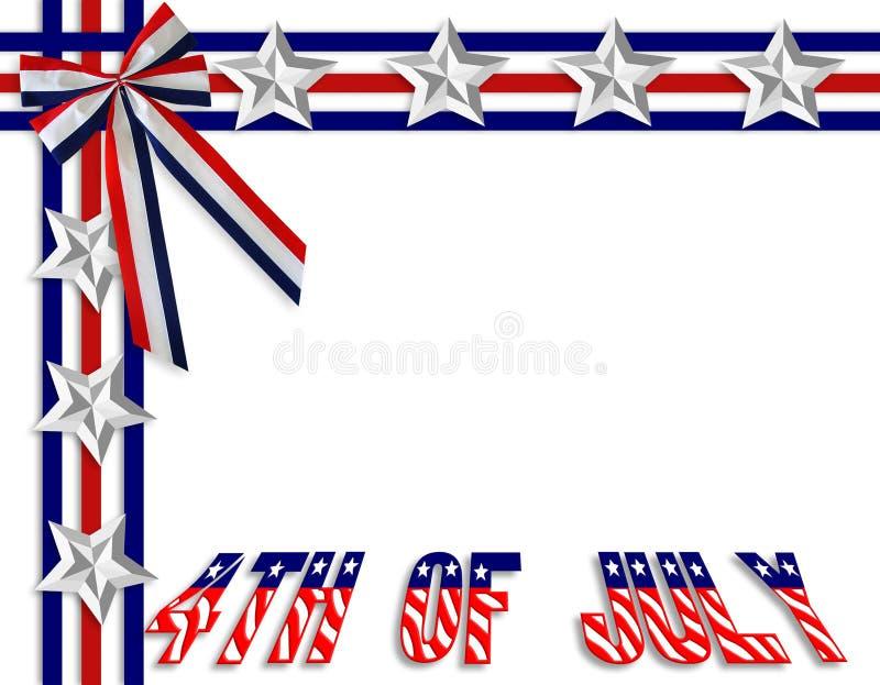 4-ая граница июль патриотический иллюстрация вектора