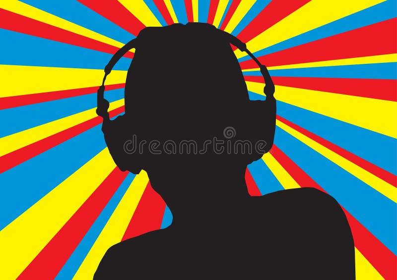 4 диско dj иллюстрация вектора