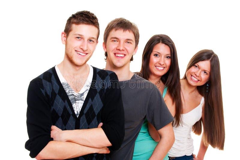 4 друз счастливого стоковые фотографии rf