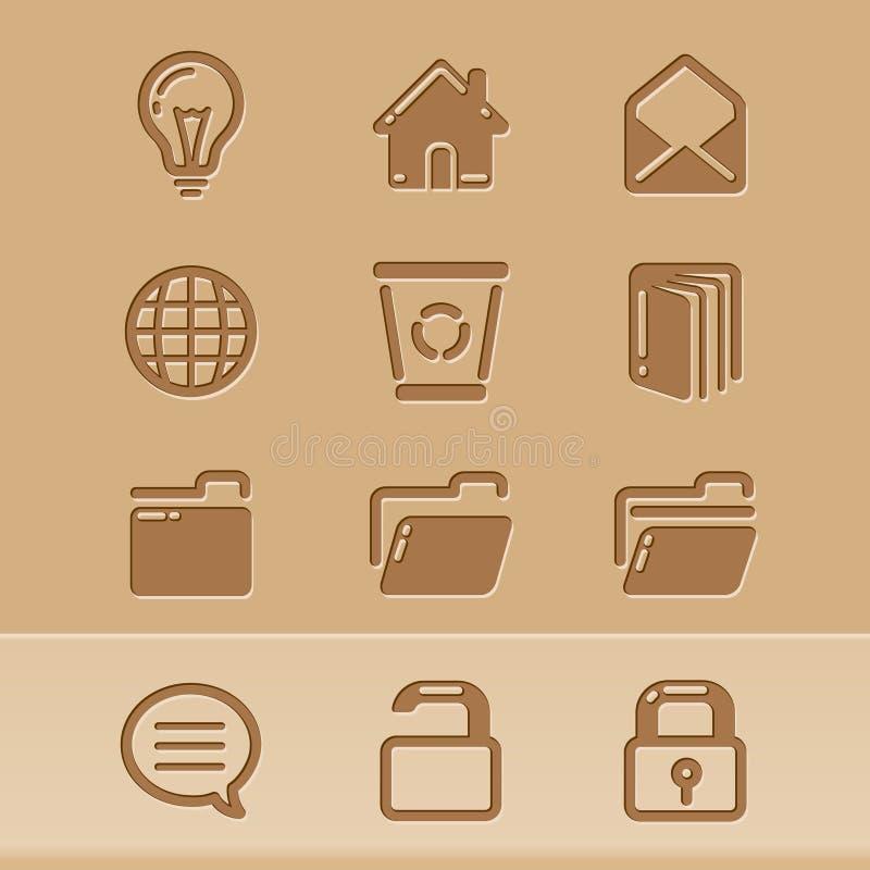 4 иконы блога иллюстрация штока