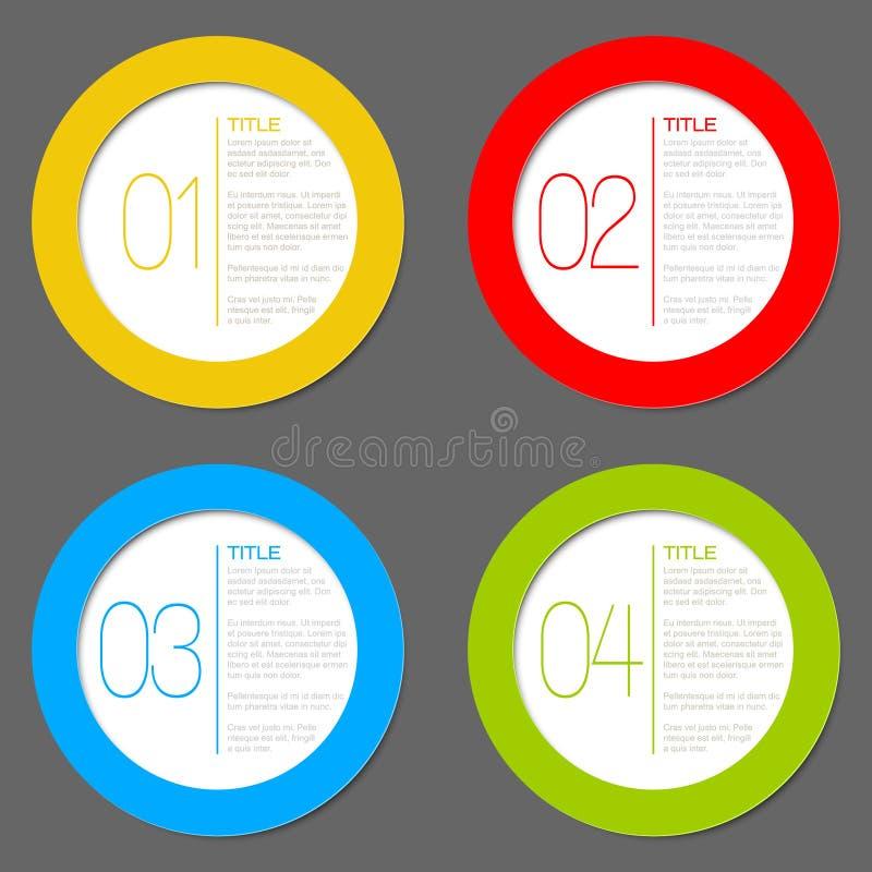 4 иконы один вектор 2 прогресса 3 иллюстрация штока
