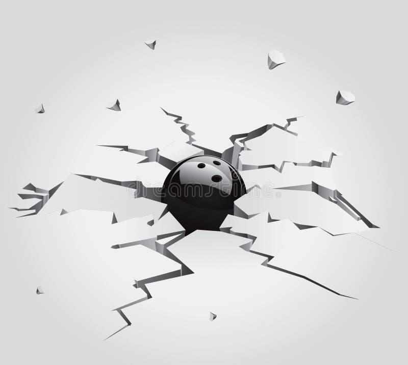 4 камень треснутый шариками установленный бесплатная иллюстрация