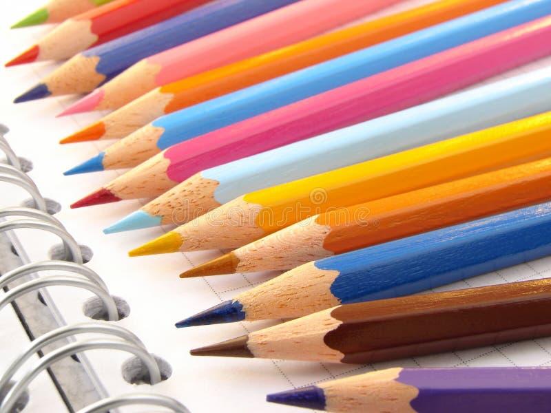 4 карандаша цвета стоковые изображения rf