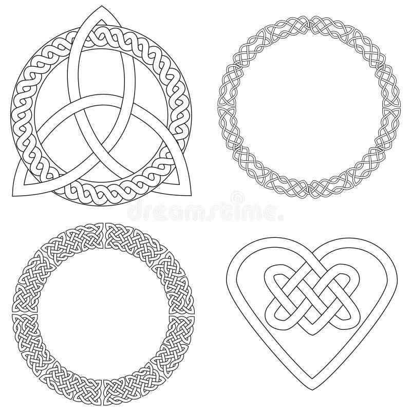 4 кельтских конструкции иллюстрация вектора