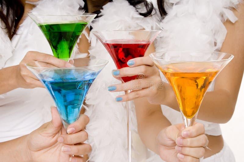 4 коктеила стоковое фото