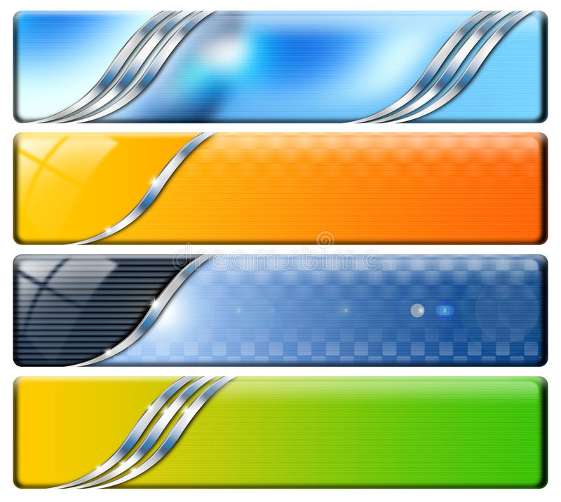 4 коллектора горизонтального иллюстрация вектора