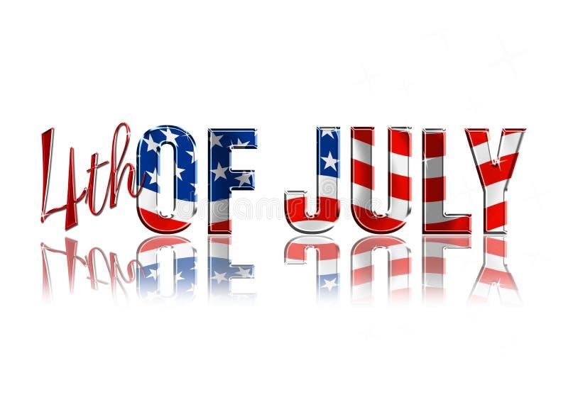 4-ое июля бесплатная иллюстрация