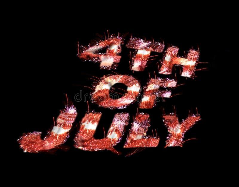 4-ое июля иллюстрация вектора