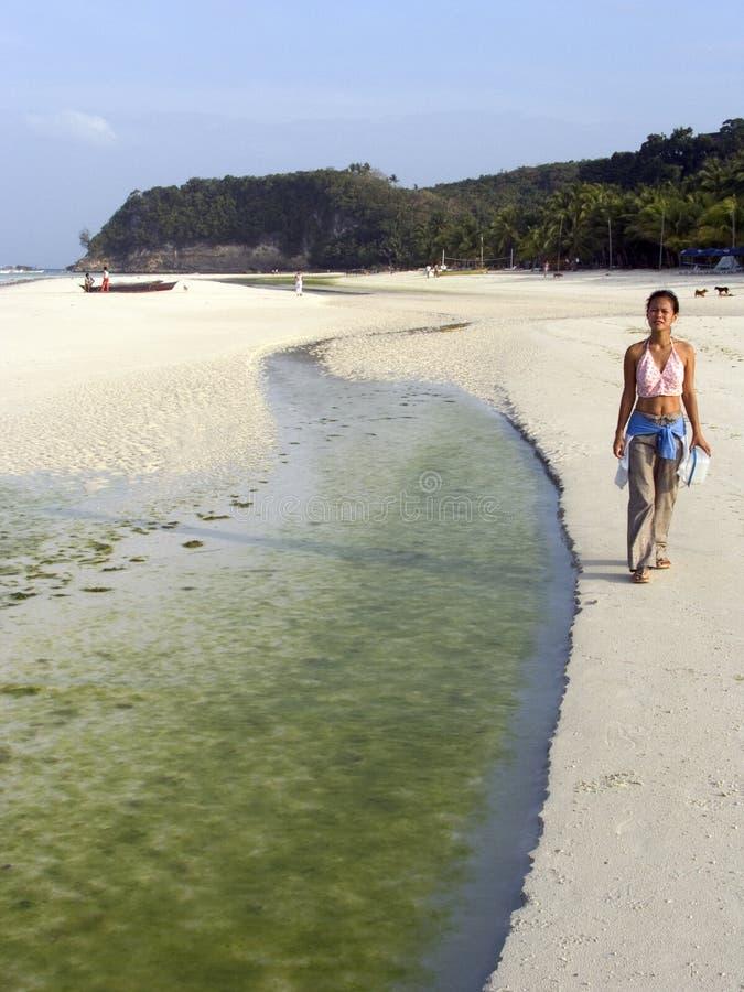 4 пляж boracay стоковая фотография rf