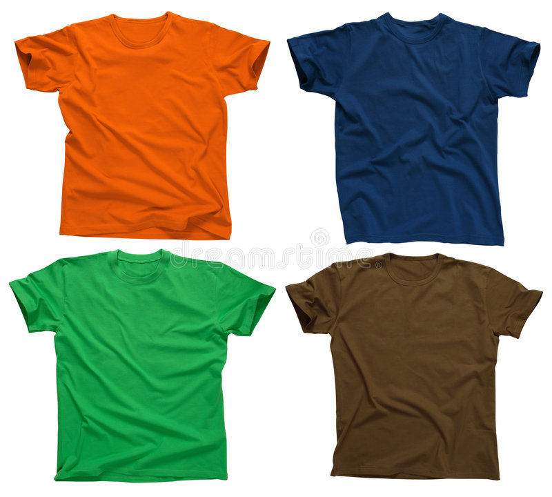 4 пустых рубашки t стоковые изображения
