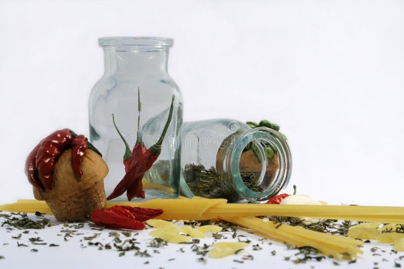 4 специи макаронных изделия стоковые фото