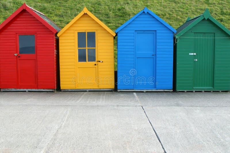 4 хаты пляжа стоковое изображение rf