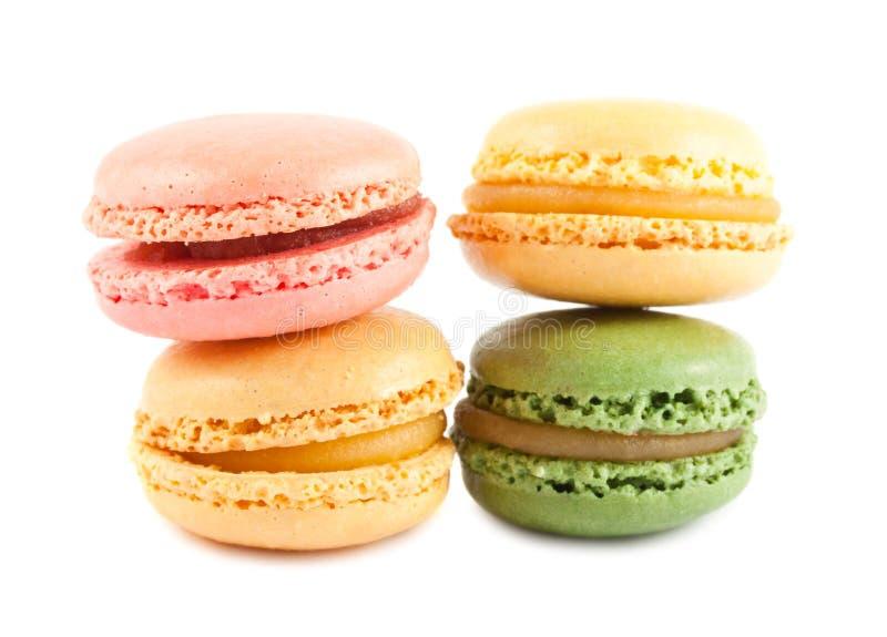 4 цветастых французских macaroons стоковая фотография rf