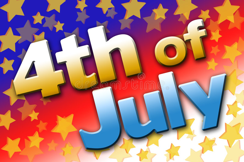 4-ый графический знак в июле иллюстрация вектора