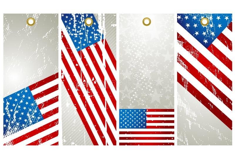 4 ярлыка США бесплатная иллюстрация