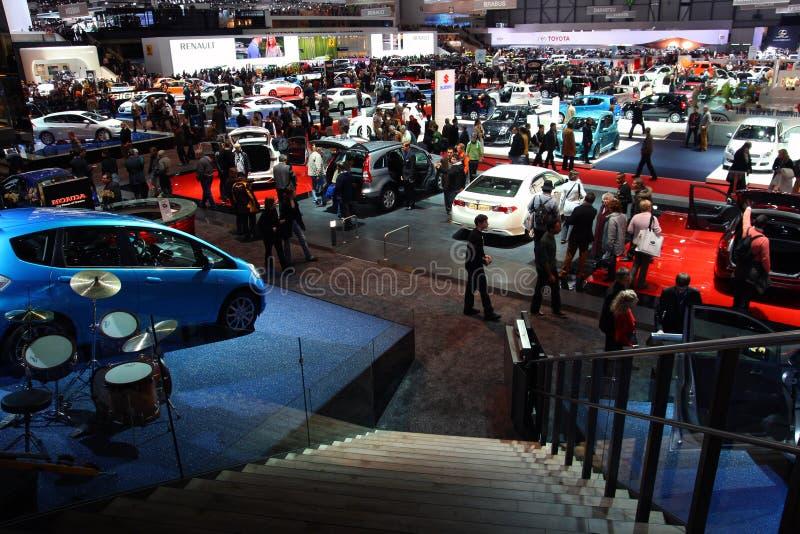 4 2009 moteurs de hall de Genève au-dessus d'exposition de vue d'ensemble photographie stock libre de droits