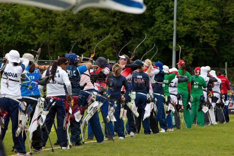 4 2010 чашки Хорватии archery может мир porec стоковая фотография
