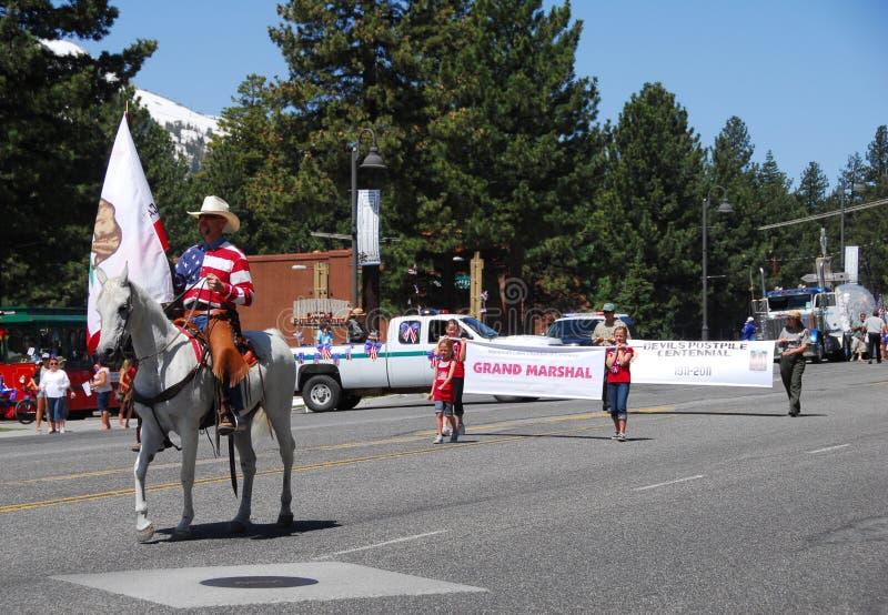 4 2011加州独立7月湖声势浩大的美国 图库摄影