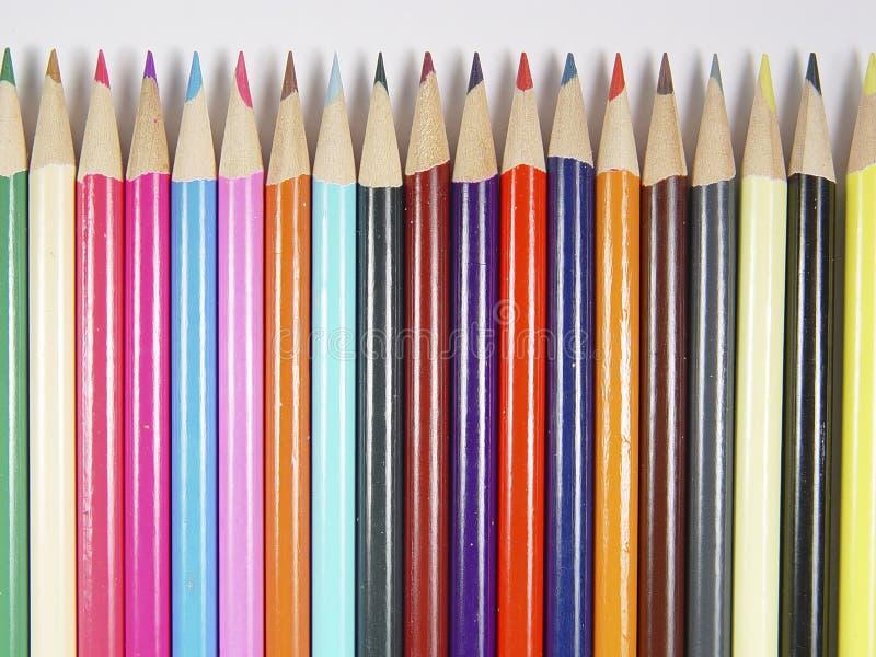4支色的铅笔 免版税库存照片
