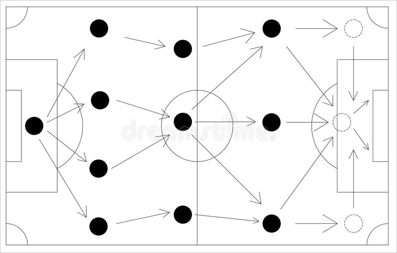 Download 4-3-3 Football Scheme On The White Board Stock Illustration - Illustration: 14548908