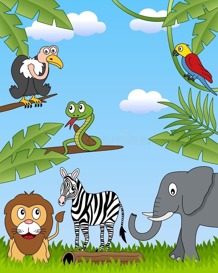 4 afrykańska zwierząt grupa ilustracji