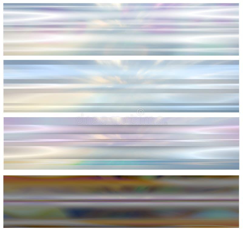 4 bann飘渺标头集合万维网 向量例证