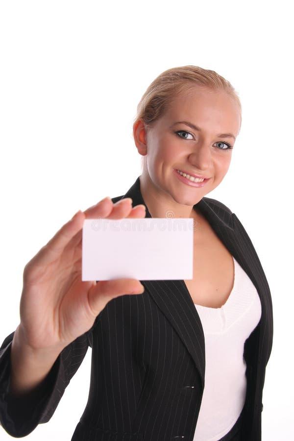 4 bizneswomanów karta zdjęcie stock