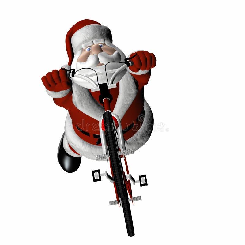 4 bmx santa бесплатная иллюстрация