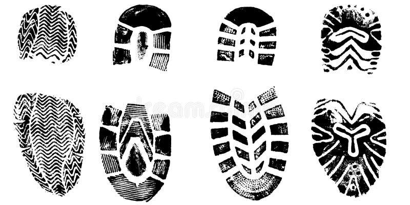 Download 4 BootPrints vektor abbildung. Illustration von tech, genetisch - 3256341