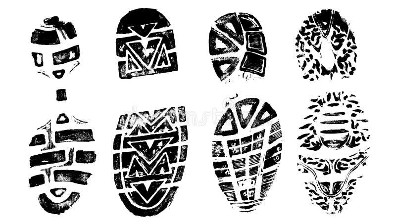 4 BootPrints III royalty-vrije illustratie