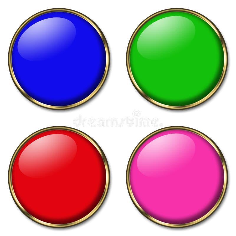 4 botones del Web ilustración del vector