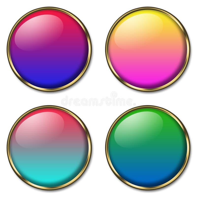 4 botones del Web stock de ilustración