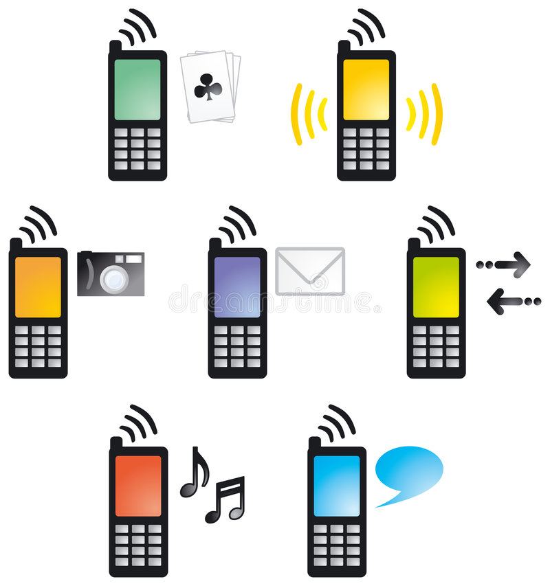 4 cellphone01 icons2 库存例证
