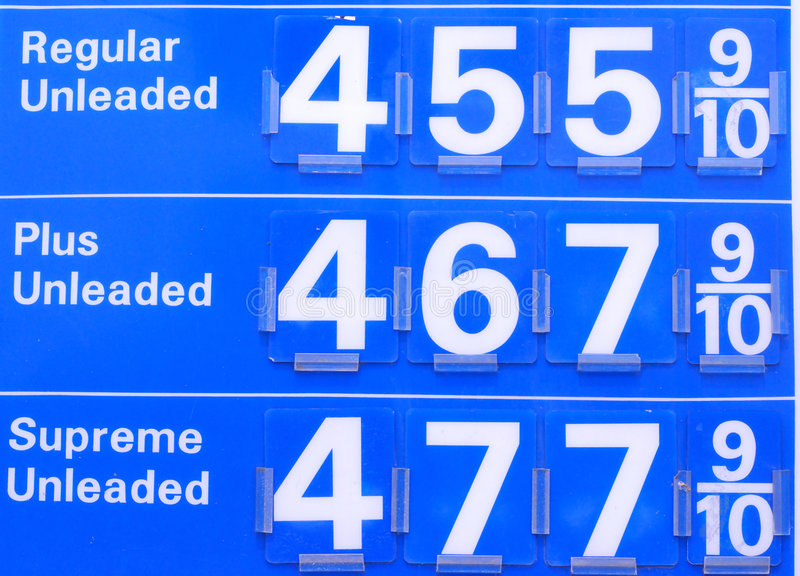 4 ceny gazu obrazy stock