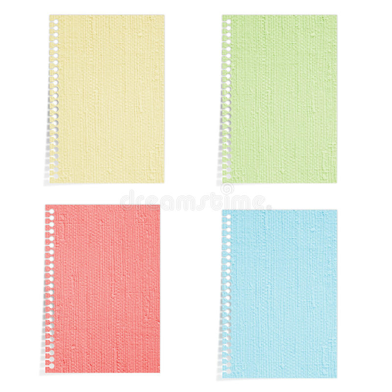 4 Color Mulberry paper isolated royalty free stock photos