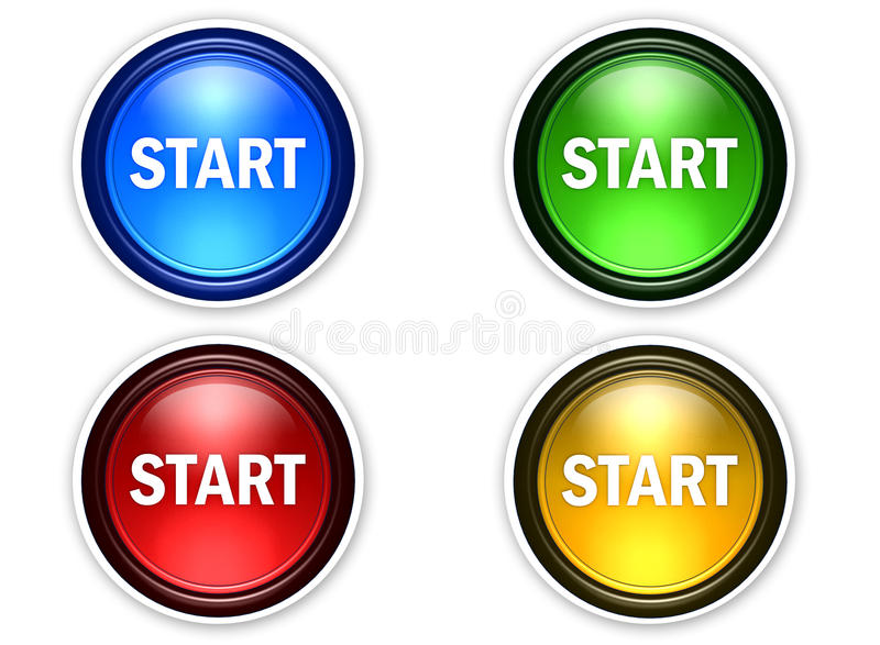 Download 4 color start button stock illustration. Image of generated - 16817992