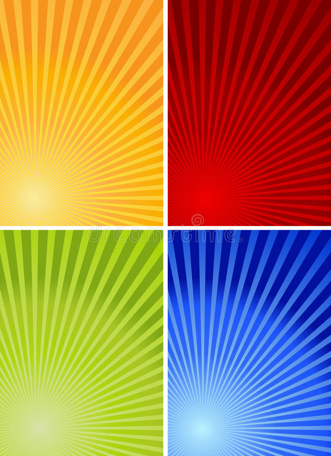 4 colorful backgrounds royalty free illustration