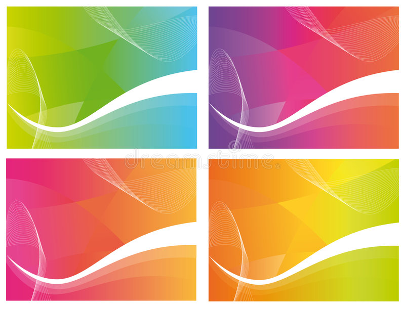 4 Colour Waves Stock Photography