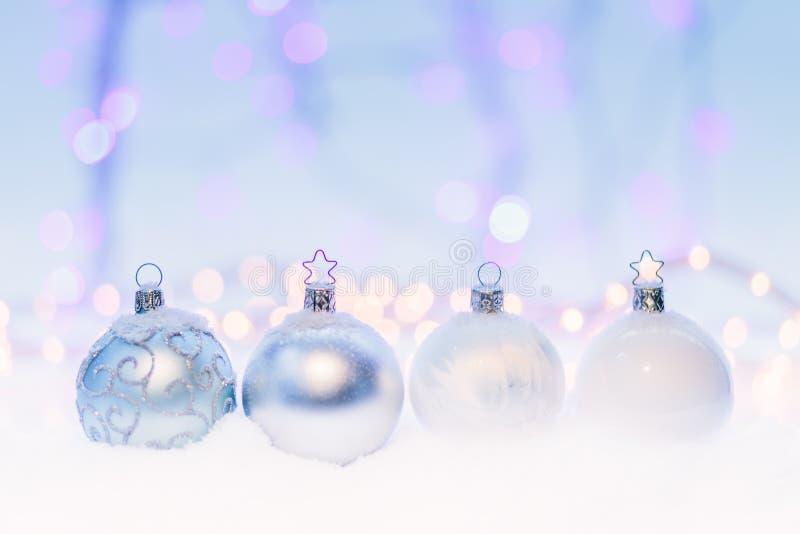 4 Crystal Bauble royaltyfri fotografi