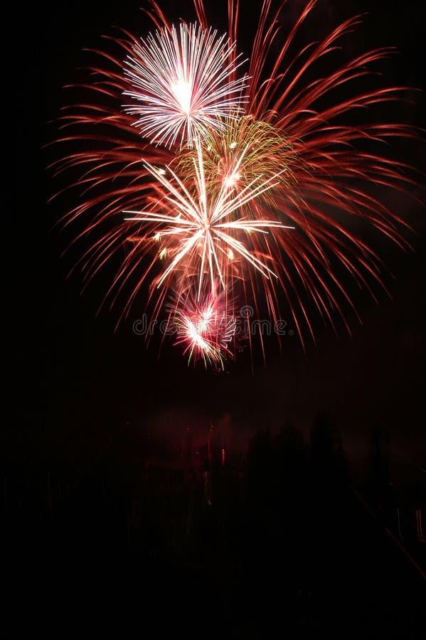 4. der Juli-Feuerwerke stockfotos