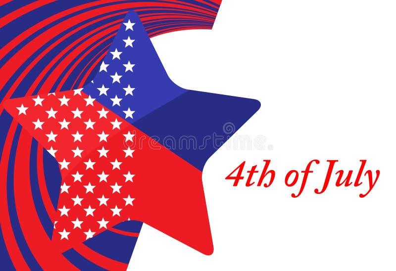 4. des Juli-Unabhängigkeitstags lizenzfreie abbildung