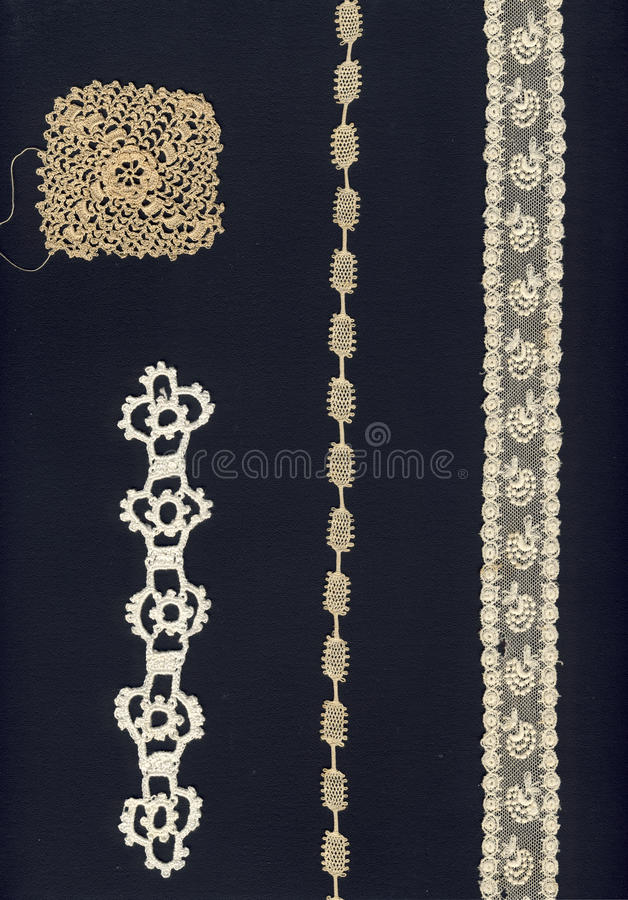 4 different 1800 laces stock images
