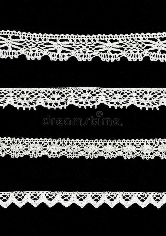 Download 4 different lace borders stock photo. Image of applique - 4103112