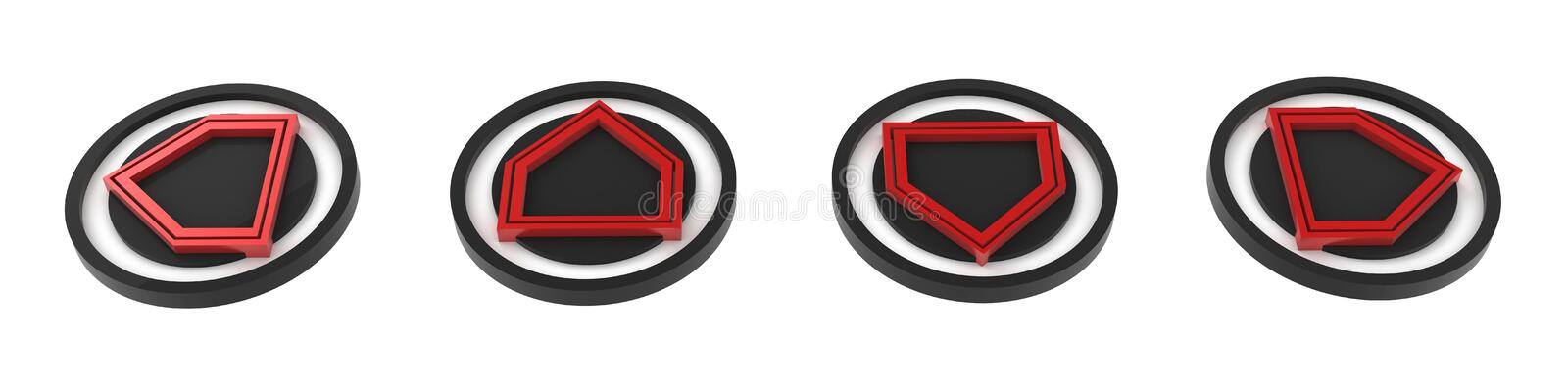 Download 4 Direction Buttons stock illustration. Image of indicate - 5373055