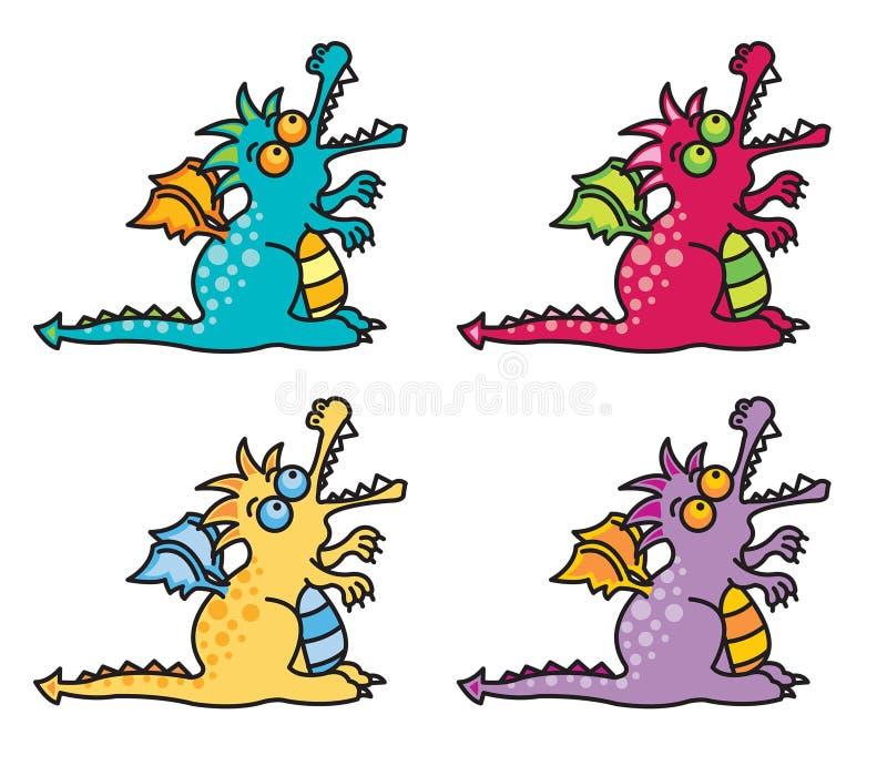 4 dragons magiques II illustration stock