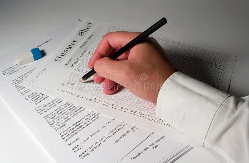 4 egzaminów papieru zdjęcie stock